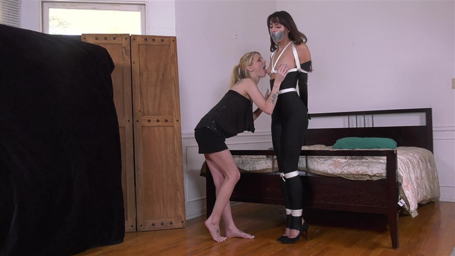 Cat Burglar's Bound Blonde - FULL THREE-SCENE VIDEO! 4K VIDEO VERSION
