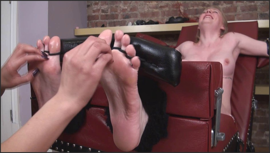 TickleAbuse - Kitty Topless and Toetied