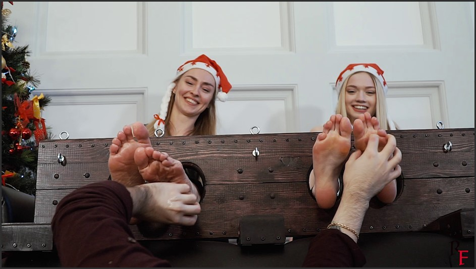 Merry Christmas! - Two New Years blondes in big stocks!